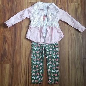 Butterfly outfit toddler girl